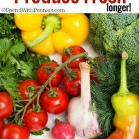 10 Tips to Keep your produce fresh longer