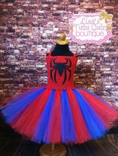 Spiderman inspired tutu dress. Superhero tutu dress. by LisasTutus