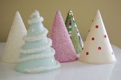 Easy Christmas craft for kids using water cooler cone cups!