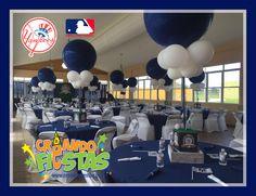 DECORACION New York Yankee's by Creando Fiestas 787-554-5556