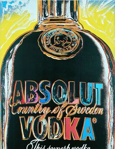 My favorite piece!!! Absolut by Andy Warhol