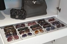 pull out sunglass drawer.