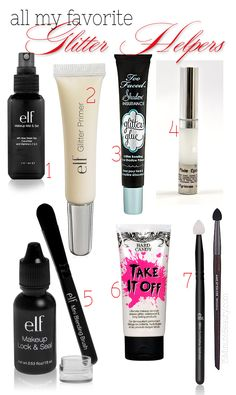 The best primers, brushes and makeup removers to help you use glitter eye shadows