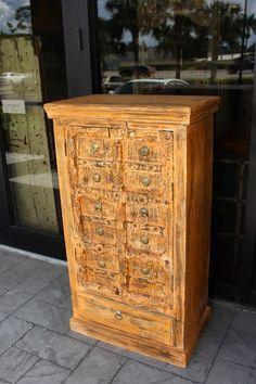 image 0 Door Storage, Cupboard Storage, Storage Chest, Antique Cabinets, Wooden Cabinets, Old Wood, Teak Wood, Cabinet Furniture, Furniture Making