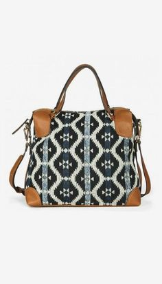 Bianca shoulder bag - it print with leather trim details, roomy for the weekend