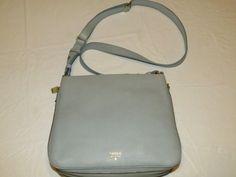 Fossil ZB5874180 Preston Crossbody Smokey Blue Xbody leather purse NWT*^ #Fossil #CrossBody