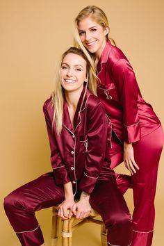 Satin Pyjama Set, Satin Pajamas, Pajama Set, Long Sleeve Pyjamas, Long Sleeve Tops, Bridal Party Pajamas, Bridesmaid Pyjamas, Pajamas Women, Underwear