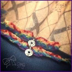 Colourful macrame anklet. Inspire. Handmade .