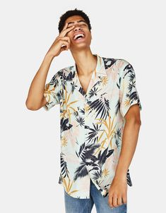 f85575ebacb8 Tropical print shirt - New - Bershka Albania