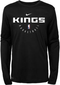9dfef9a1529 Nike Youth Sacramento Kings Dri-FIT Practice Long Sleeve Shirt