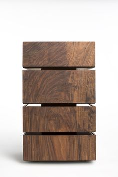 Format A/V Cabinet in California Claro Walnut and Polished Copper - Taylor Donsker Design