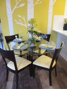 KB Home Summit Hall Gaithersburg MD Yellow And Blue Kitchen