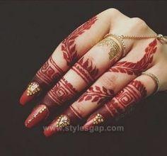 Beautiful Easy Finger Mehndi Designs 2018-2019 Styles