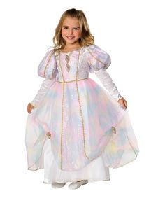 Rainbow Princess Costume, Medium - - Rainbow Princess Child Halloween Costume Size Medium includes: Beautiful princess flowing dress with distinctive bubbled sleeves and gold colored accents. Princess d Fairy Fancy Dress, Princess Fancy Dress, Fancy Dress Up, Princess Girl, Halloween Fancy Dress, Halloween Costumes For Girls, Girl Costumes, Children Costumes, Princess Party