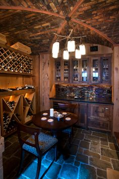 Wine cellar - this is cool. I wonder how many bottles I would have to drink to…