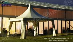 PVC coated gazebo con tetto rigido for outdoor party wedding Pvc Tent, Gazebo Canopy, Canopies, Outdoor Gazebos, Backyard Gazebo, Marquee For Sale, A Frame Tent, Small Tent, Tent Living