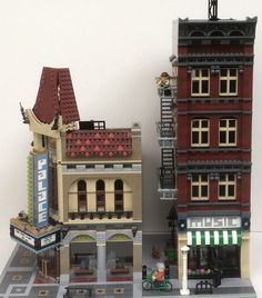My latest modular is a music store from a city in the American midwest. (Sorry for the poor photos - I took them with my cell phone. My camera battery is ...