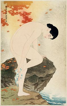 Itō Shinsui, The fragrance of a bath, 1930