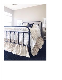 Queen Size Gathered Dust Ruffle Bed Skirt Natural Tan Color Osnaburg Fabric Clic Shades Up Amp