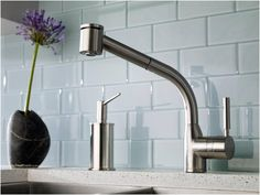 Rohl Modern Lux side lever pull-out kitchen faucet