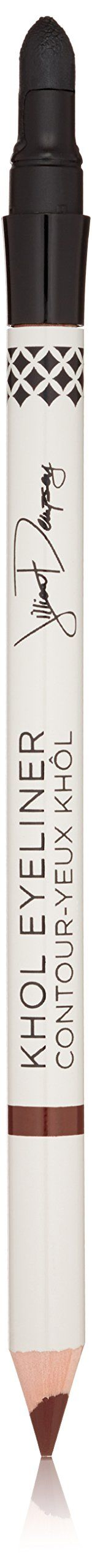 Jillian Dempsey Natural Khôl Eyeliner, Rich Brown. Created by celebrity makeup artist Jillian Dempsey to deliver an instant smoky eye. This luxurious liner is made with organic jojoba oil, organic shea butter and marula oil to give the product a smooth, waterproof finish. The built-in smudger allows you to blend the color for a soft-focus look.