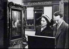 Robert Doisneau: Tableau de Wagner dans la vitrine de la galerie Romi, rue de Seine, 1948.003.jpg