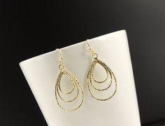 TearDrop Earrings. Gold Dangle Earrings. by SimpleElegantJewelry, $16.00