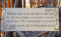 @kayla brown In Memory of Wedding signs Wedding decorations by familyattic, $48.95