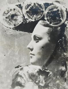 Dora Maar (1907-1997): Profile Portrait with Glasses and Hat, early 1930s. Man Ray
