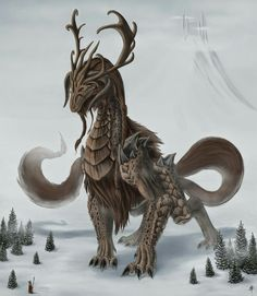 Norse dragon niohoggr