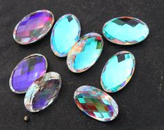 10 Pcs 5 Pair 25x15 mm AAA Rainbow Quartz by gemsinternational