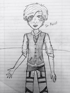 Tried to draw marco, kinda turned out ok. AOT/SNK