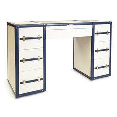 Jonathan Adler Jet Set Desk opens into a vanity
