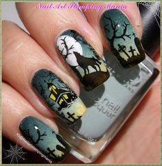 Nail Art Designs für Halloween - OSTTY - Hairstyles and Make up - halloween nails Holloween Nails, Cute Halloween Nails, Halloween Nail Designs, Halloween Halloween, Skull Nail Designs, Diy Nail Designs, Seasonal Nails, Holiday Nails, Ongles Funky
