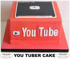 Tarta fondant youtuber by Atelier de Tartas, tartas cuadradas, tartas cumpleaños, you tuber cake, tartas fondant mallorca, Mallorca fondant cakes