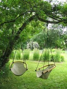 Ceechair hanging tree swing made in Wisconsin, available in several colors and patterns. Ceechair hanging tree swing made in Wisconsin, available in several colors and patterns. Backyard Hammock, Hammock Swing, Hammock Ideas, Hammocks, Diy Swing, Outdoor Fun, Outdoor Decor, Outdoor Spaces, Outdoor Swings