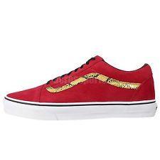 Vans Old Skool Red Gold Snake Skin 2014 Mens Classic Shoes Sneakers VN-0VOKC3H