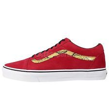 Vans Old Skool Red Gold Snake Skin 2014 Mens Classic Shoes Sneakers VN-0VOKC3H