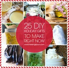 The Rising Spoon: 25 Homemade Holiday Gift Projects To Start Right Now