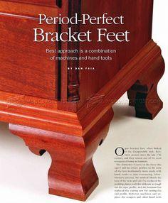 Making Ogee Bracket Feet Wood Furniture Legs, Home Decor Furniture, Furniture Making, Painted Furniture, Furniture Ideas, Woodworking Jigs, Woodworking Projects, Wood Post, Wood Brackets
