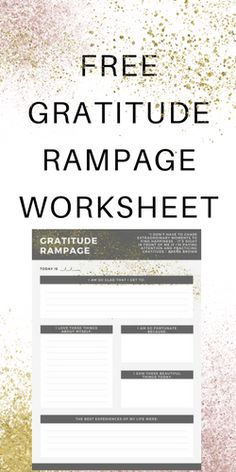 This is an awesome gratitude worksheet that I use as part of my self care plan to manage depression
