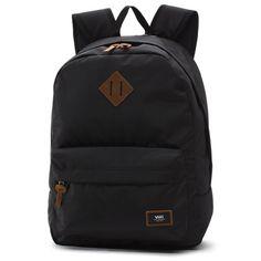 Vans Old skool Plus Backpack-True Black Vans Backpack, Laptop Backpack, Black Backpack, Backpack Bags, Fashion Backpack, Mochila Herschel, Mochila Adidas, Cute Mini Backpacks, Men's Backpacks
