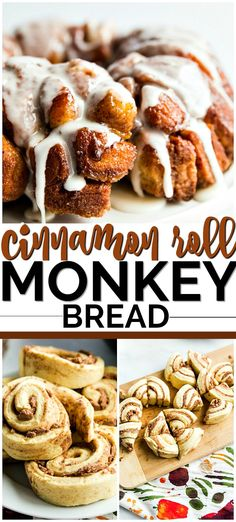 Two of my all time favorite easy breakfast recipes to be cinnamon rolls and monkey bread. So this cinnamon roll monkey bread recipe was a no brainer for me. With only 5 ingredients, this recipe couldn't be easier. Using prepared large cinnamon rolls, inst Homemade Monkey Bread, Monkey Bread Muffins, Cinnamon Roll Monkey Bread, Monkey Bread Crockpot, Monkey Bread Easy, Biscuit Cinnamon Rolls, Cinnamon Roll Muffins, Cinnamon Cake, Monkey Bread With Biscuits