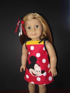 American Girl in Mickey outif