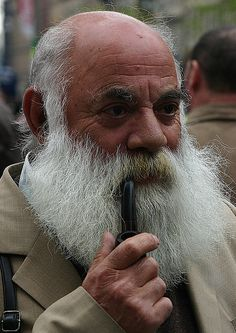 Pipe and white Beard