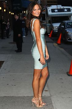 Herve Leger Bandage Dress Light Blue-Christine Teigen [HLBD_12102601] -  Herve Leger Dress, Herve Leger Sale!