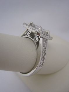 Custom Engagement Ring with the couple's initials <3 www.jensenjewelers.net