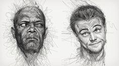 """Vince Low's """"Faces"""" Scribble Portraits"""