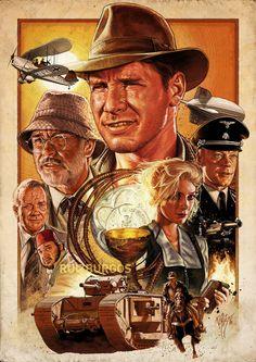 'Indiana Jones And The Last Crusade' by Ruiz Burgos