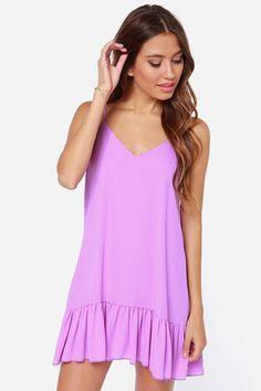 Let It Flow Silky Orchid Purple Dress
